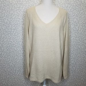 Lane Bryant Shimmer Sweater Cashmere